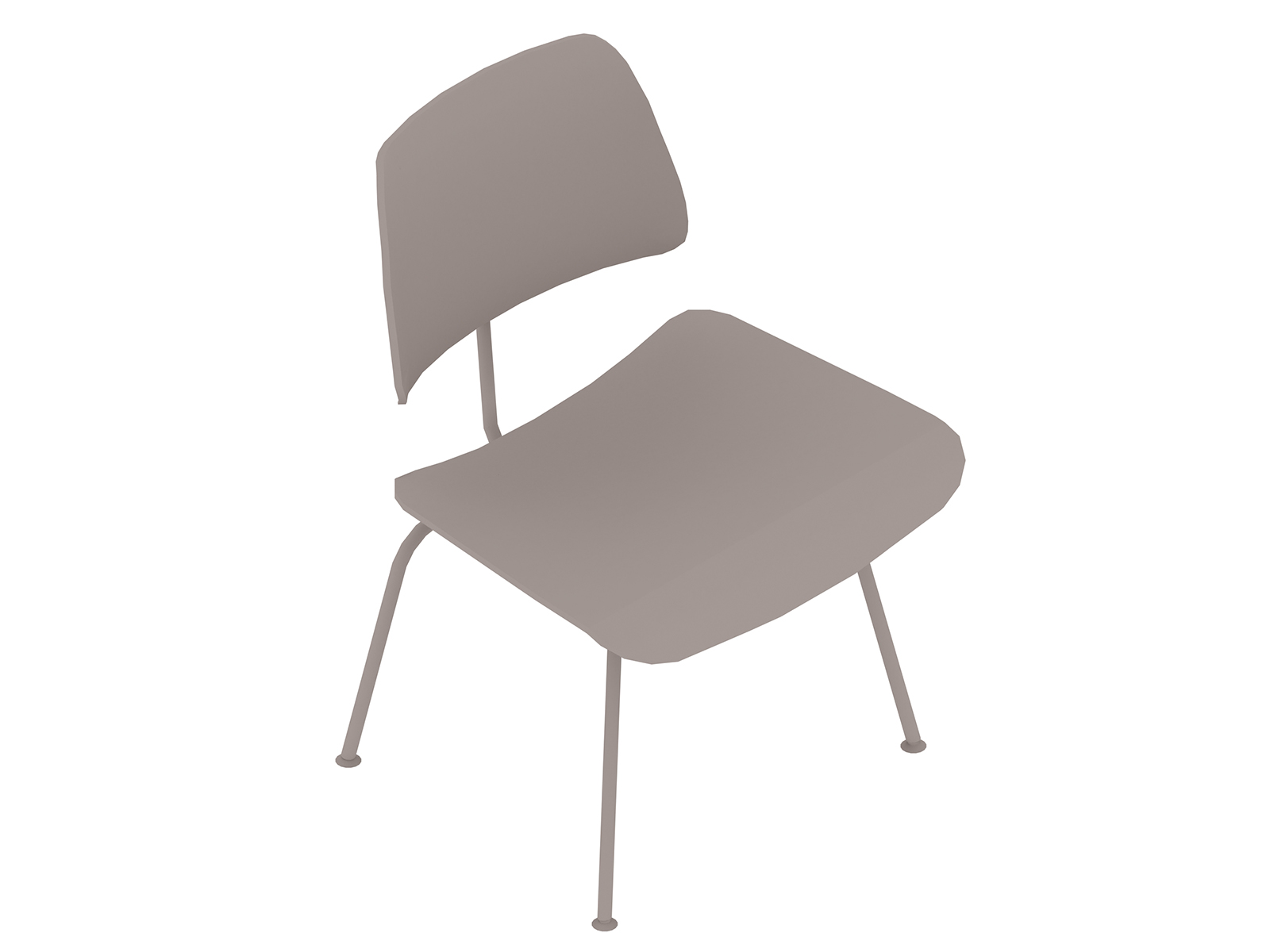 A generic rendering - Eames Molded Plywood Dining Chair–Metal Base–Nonupholstered