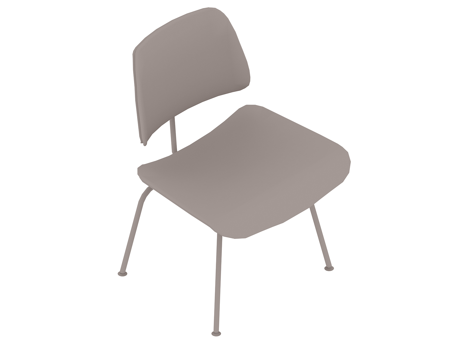 A generic rendering - Eames Molded Plywood Dining Chair–Metal Base–Upholstered