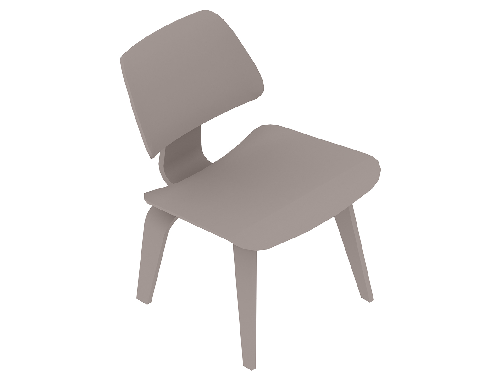 A generic rendering - Eames Molded Plywood Dining Chair–Wood Base–Nonupholstered