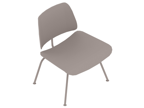 A generic rendering - Eames Molded Plywood Lounge Chair–Metal Base–Nonupholstered