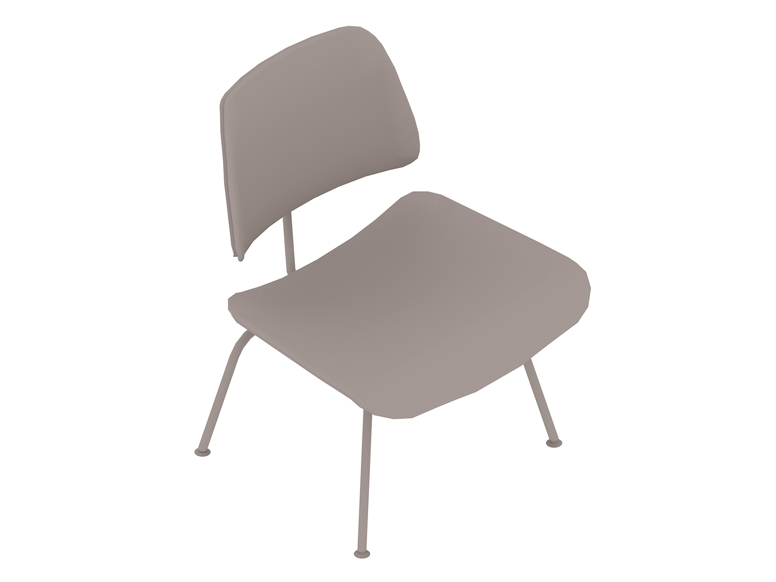 A generic rendering - Eames Molded Plywood Lounge Chair–Metal Base–Upholstered