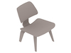 A generic rendering - Eames Molded Plywood Lounge Chair–Wood Base–Nonupholstered