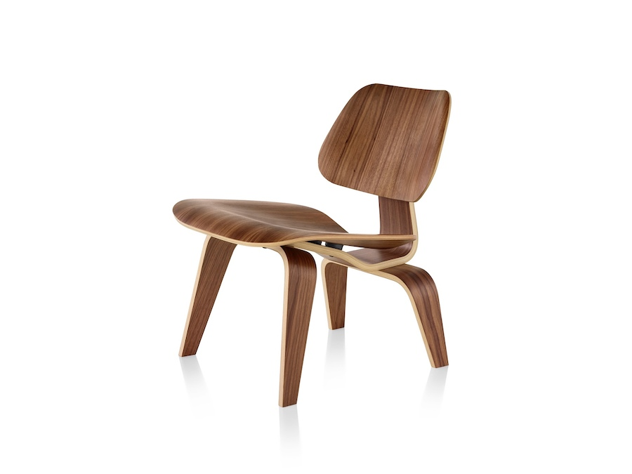 A photo - Eames Molded Plywood Lounge Chair–Wood Base–Nonupholstered