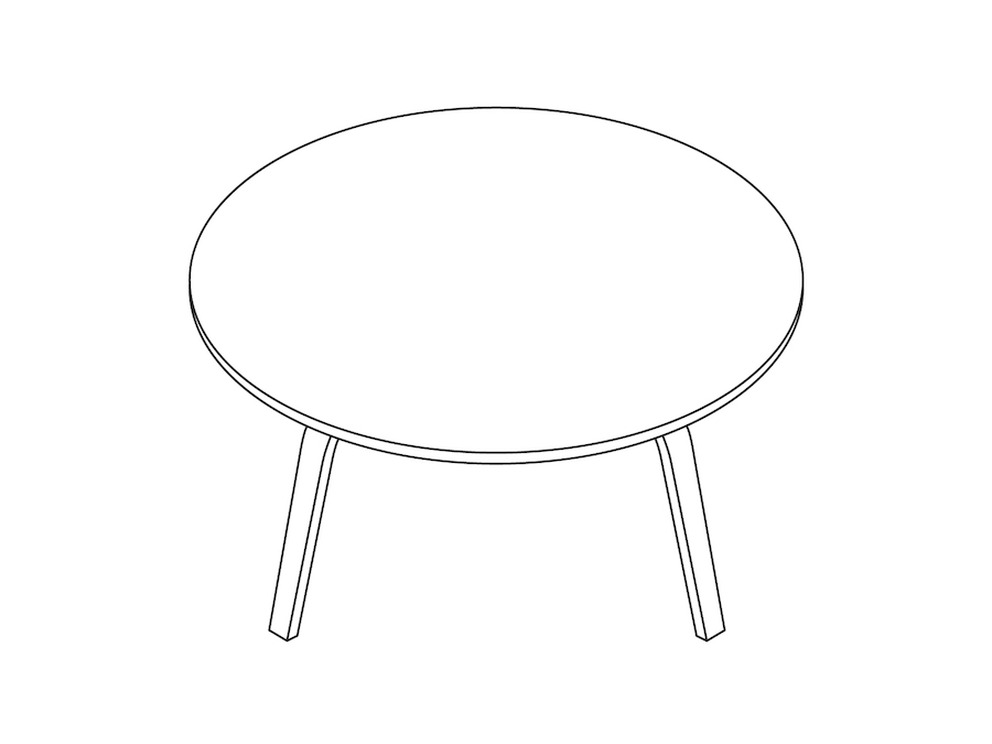 Eames Molded Plywood Coffee Table Wood Base 3d Product