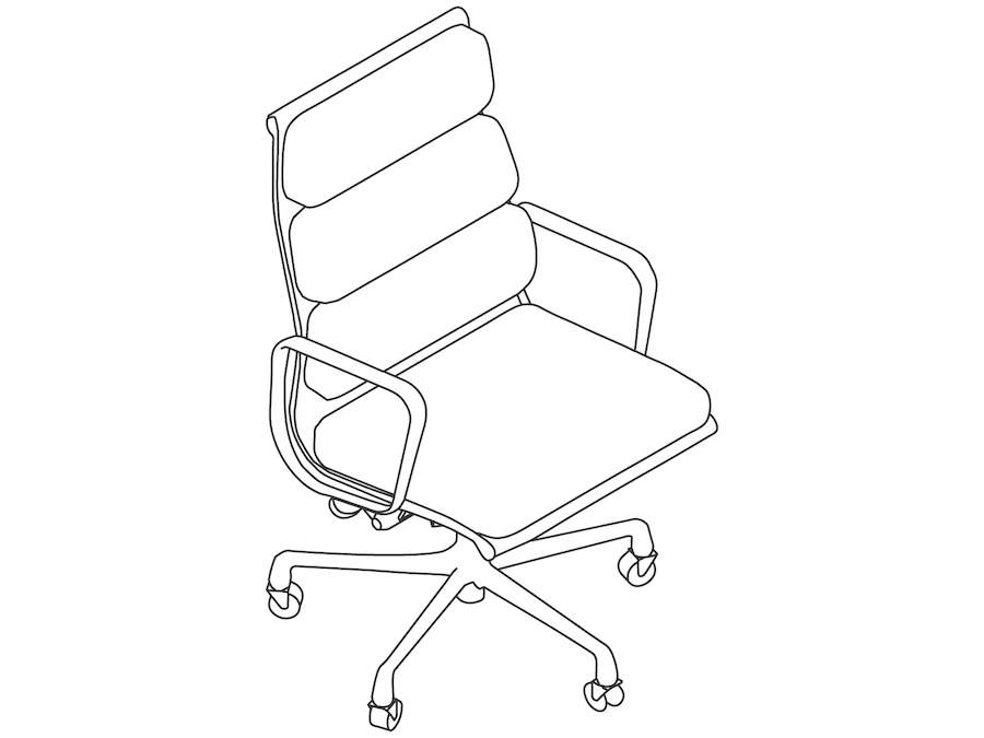 A line drawing - Eames Soft Pad Chair–Executive