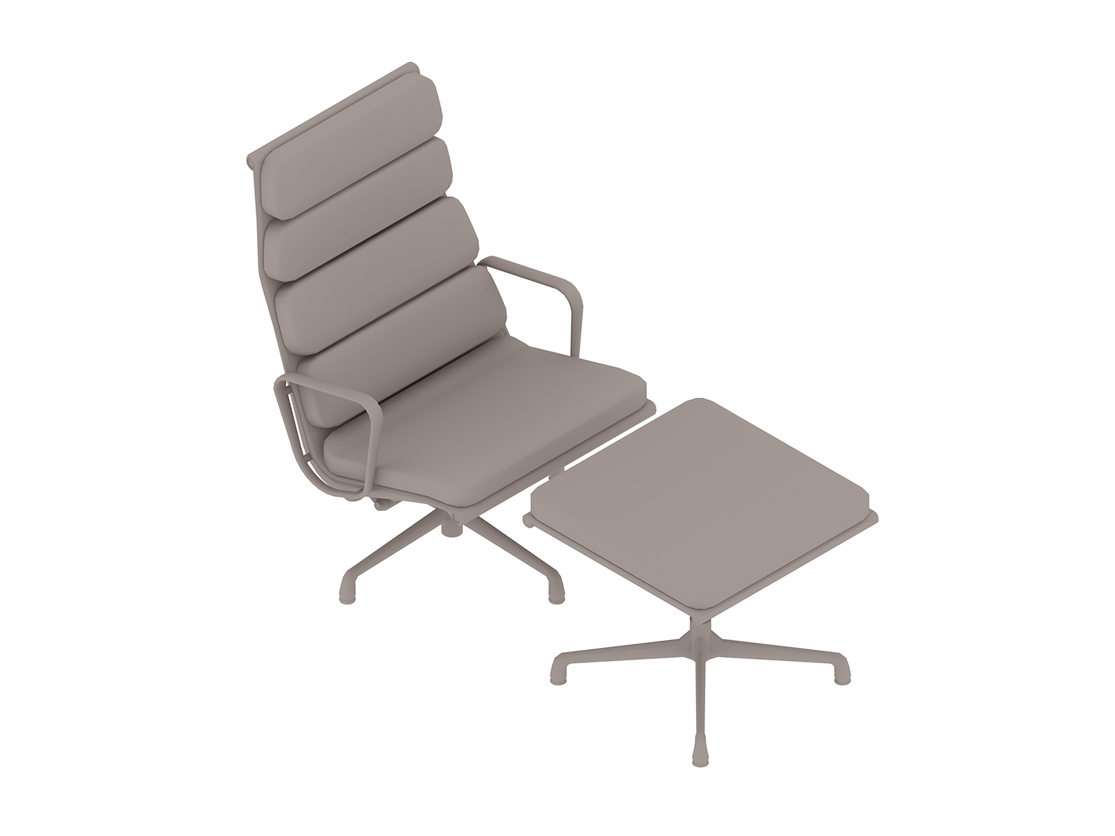 A generic rendering - Eames Soft Pad Lounge Chair