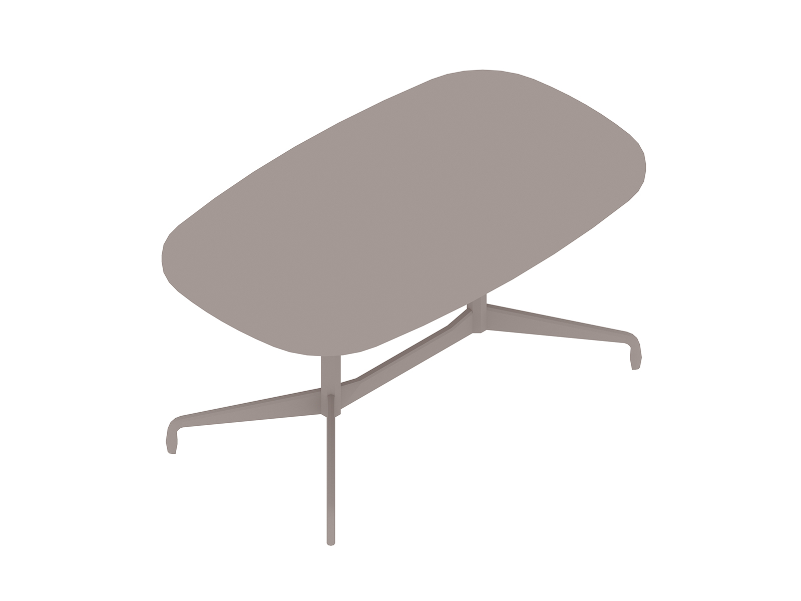 A generic rendering - Eames Table–Oval–Segmented Base