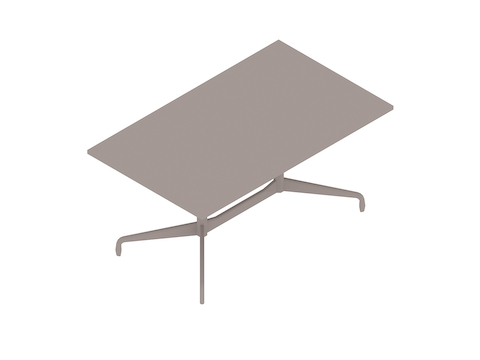 A generic rendering - Eames Table–Rectangular–Segmented Base