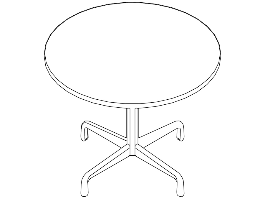 A line drawing - Eames Table–Round–Contract Base
