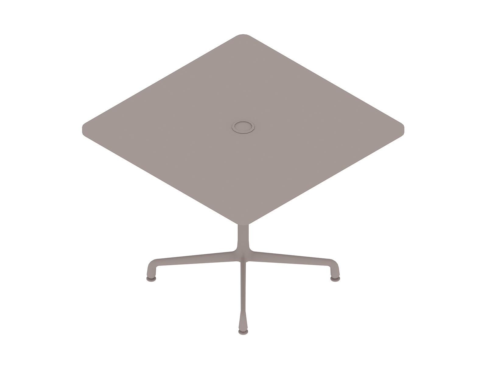A generic rendering - Eames Table–Square–Universal Base