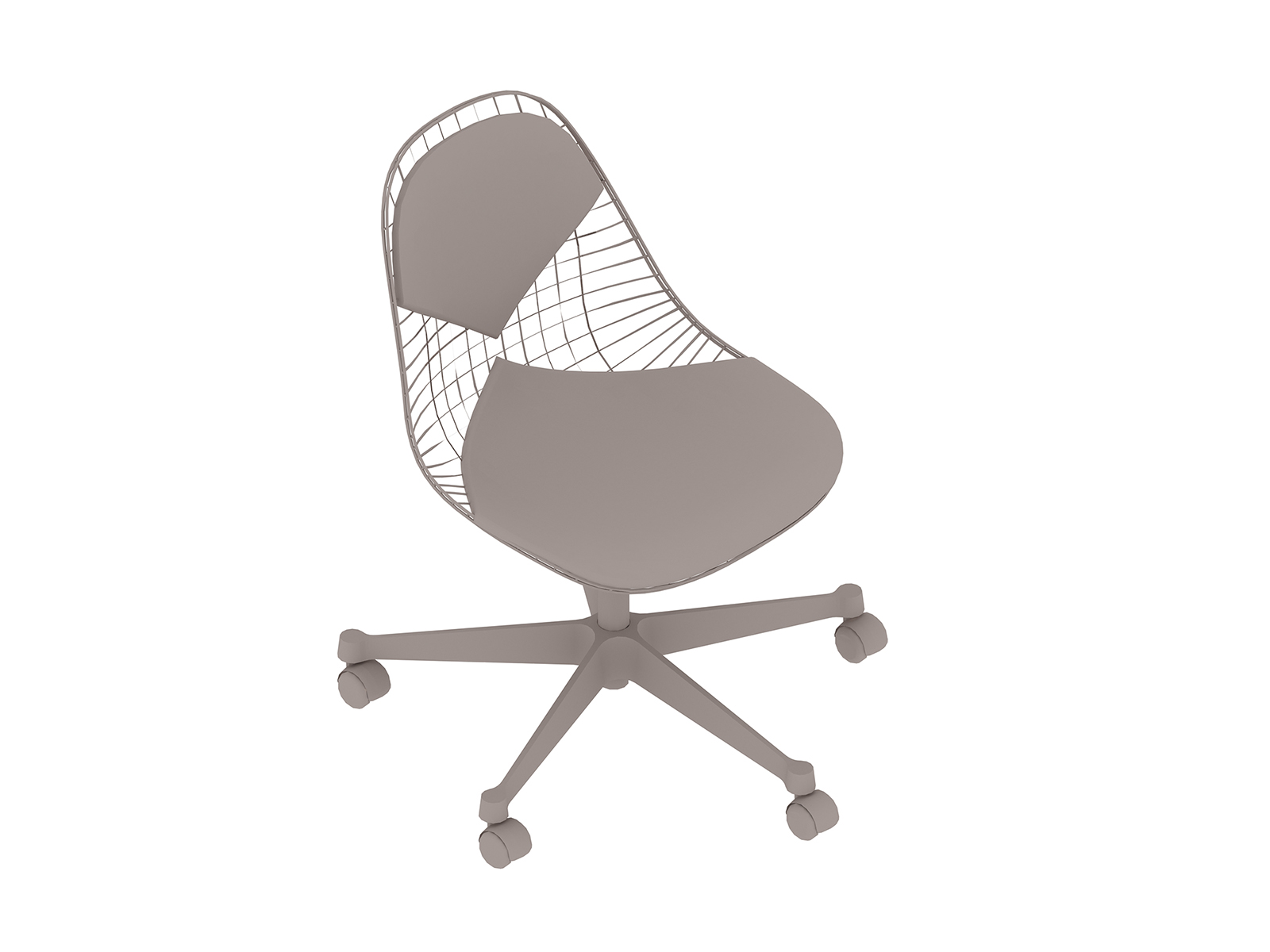 A generic rendering - Eames Task Chair–Armless–Upholstered Seat and Back–Wire Shell