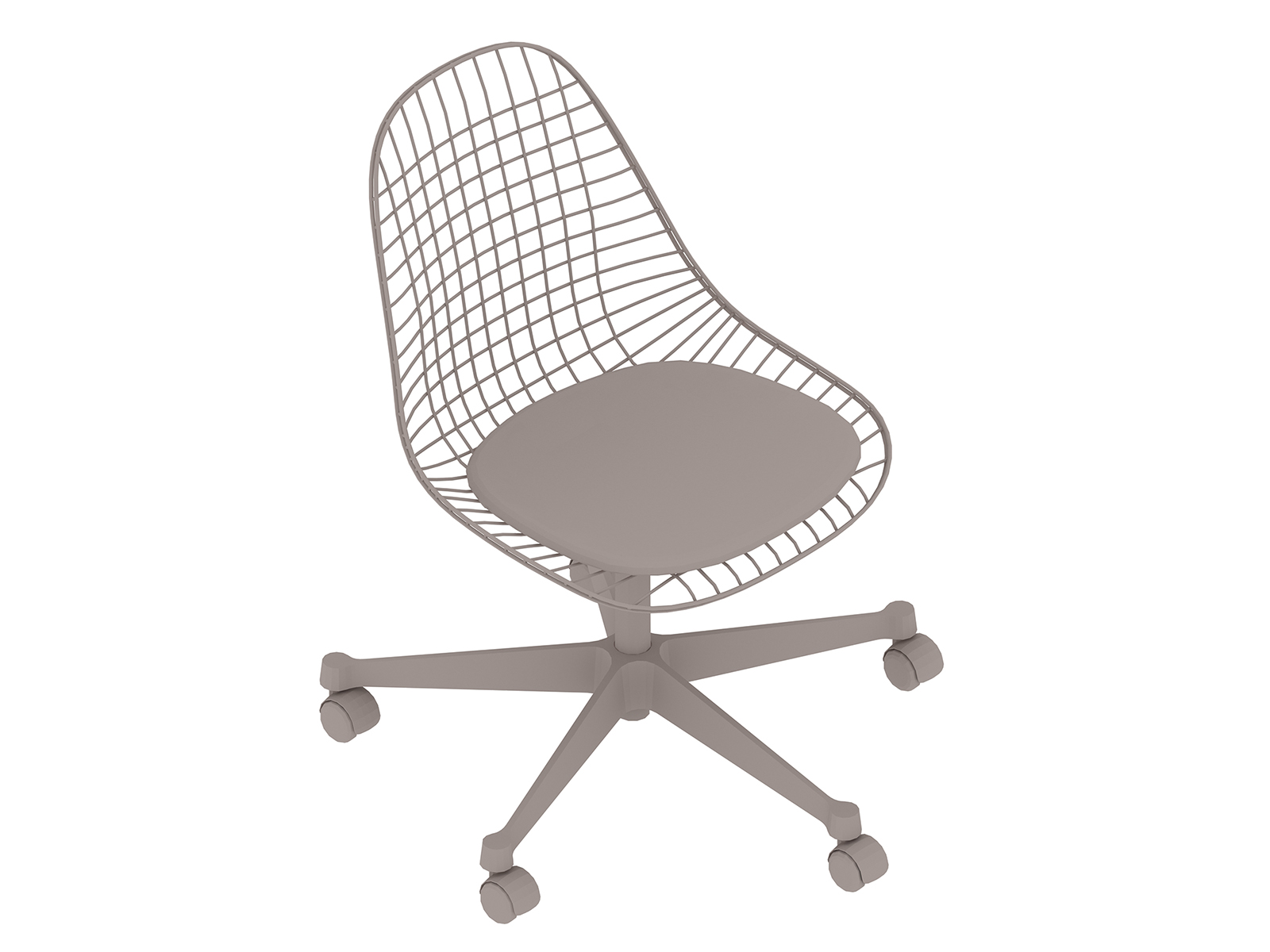 A generic rendering - Eames Task Chair–Armless–Upholstered Seat–Wire Shell