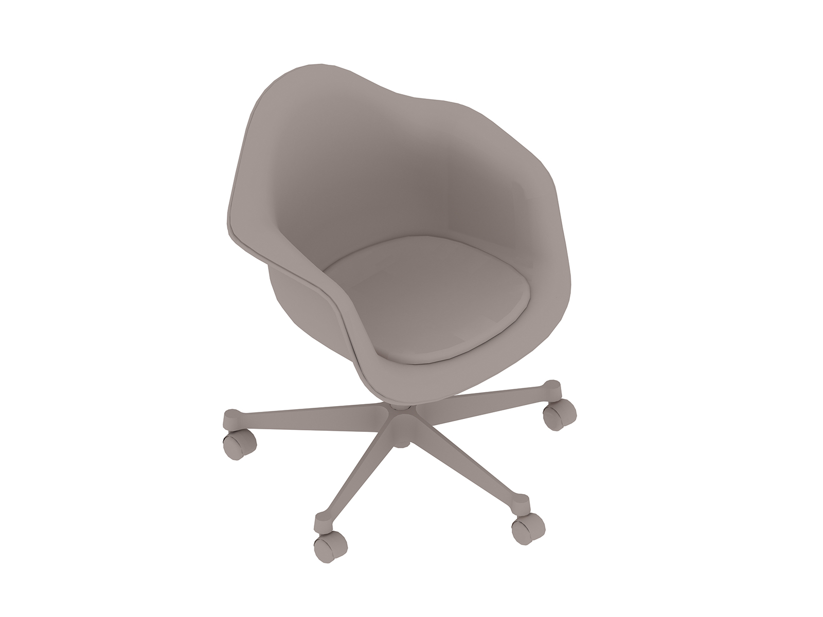 A generic rendering - Eames Task Chair–With Arms–Upholstered Seat Pad