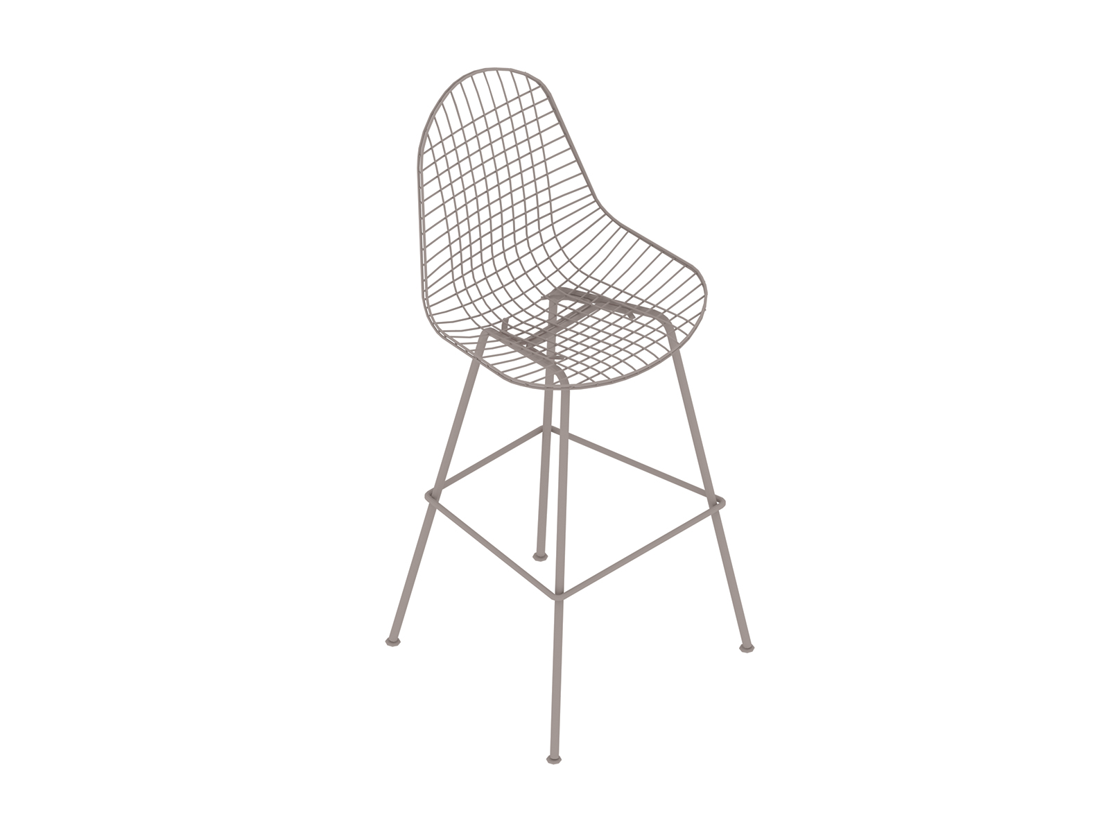 A generic rendering - Eames Wire Stool–Bar Height–Nonupholstered