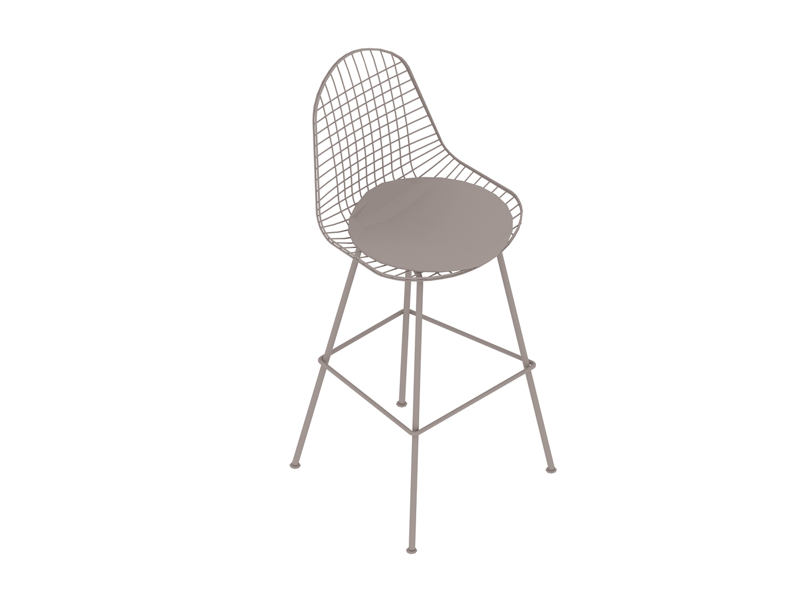 A generic rendering - Eames Wire Stool–Bar Height–Upholstered Seat