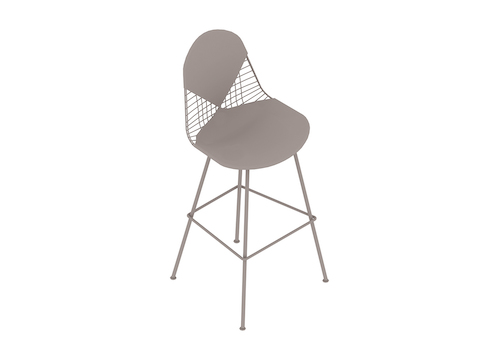 A generic rendering - Eames Wire Stool–Bar Height–Upholstered Seat and Back