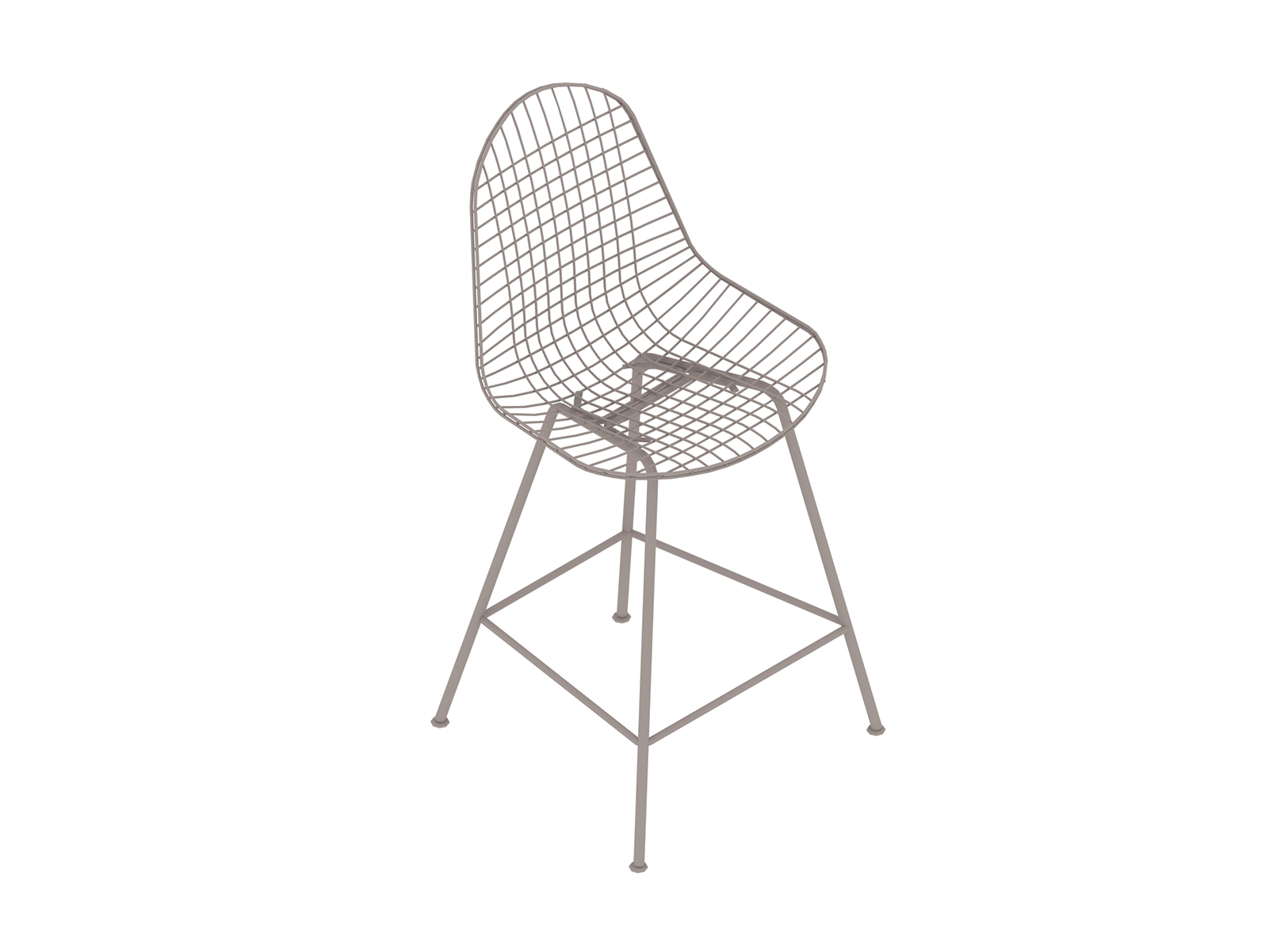 A generic rendering - Eames Wire Stool–Counter Height–Nonupholstered