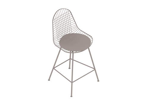 A generic rendering - Eames Wire Stool–Counter Height–Upholstered Seat