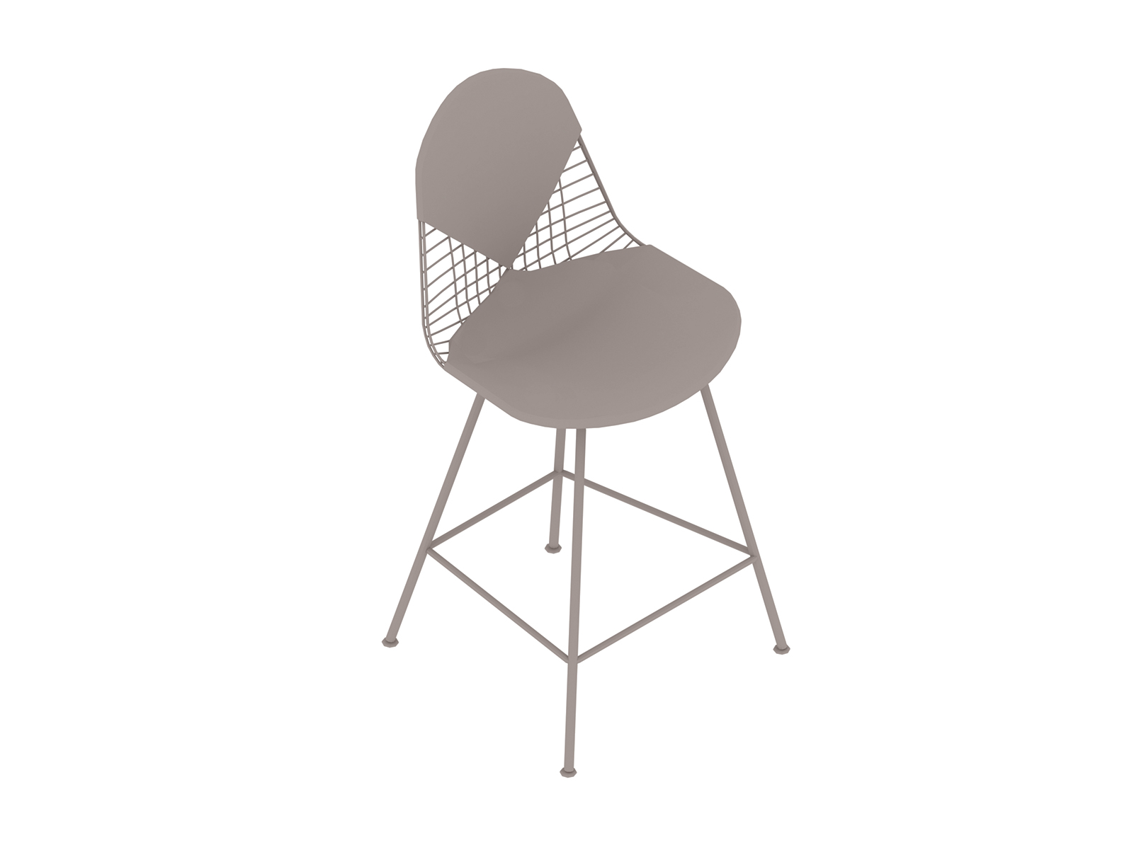 A generic rendering - Eames Wire Stool–Counter Height–Upholstered Seat and Back