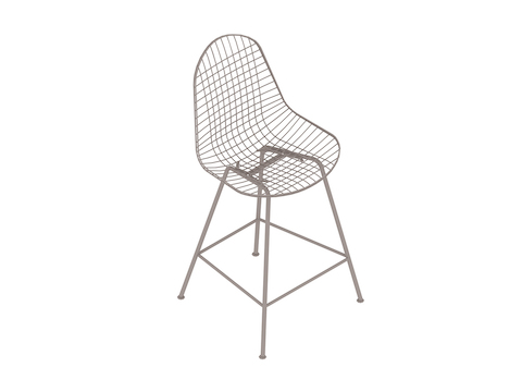 A generic rendering - Eames Wire Stool Outdoor–Counter Height