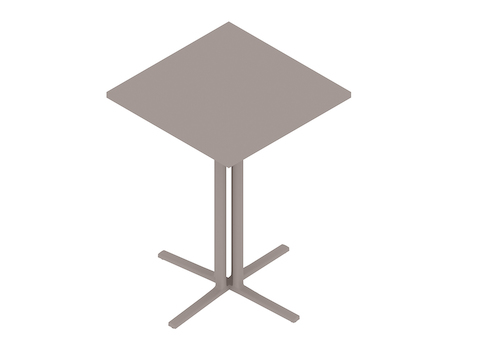 A generic rendering - Everywhere Standing Height Table–Square