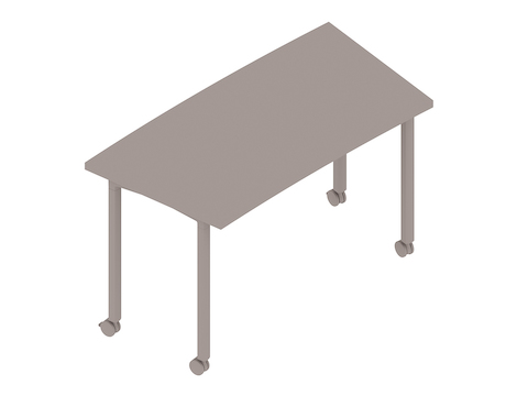 A generic rendering - Everywhere Table–Classroom Curve–Post Leg