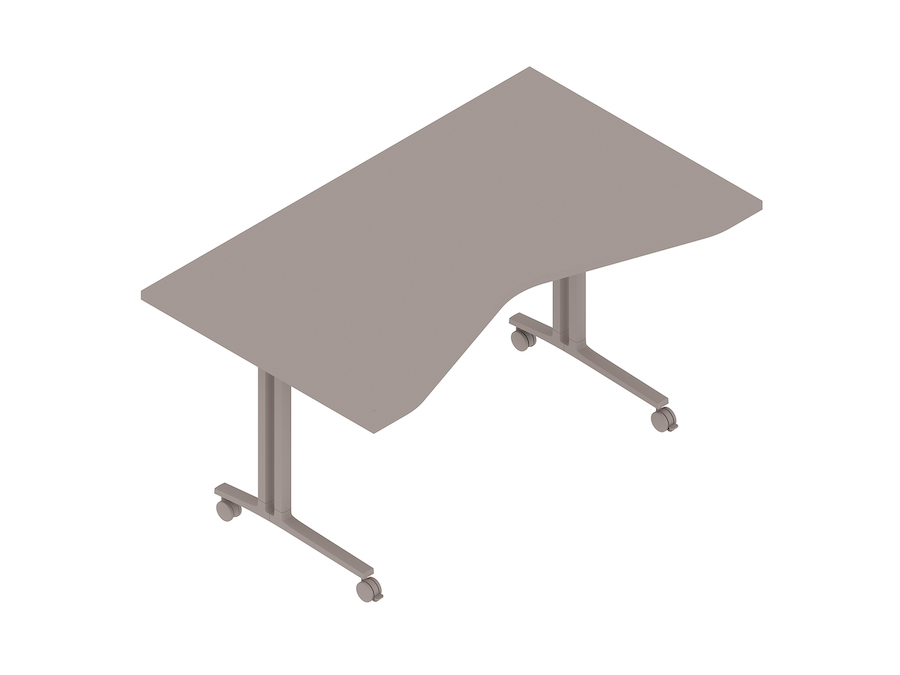 A generic rendering - Everywhere Table–Concave Rectangular–C Leg
