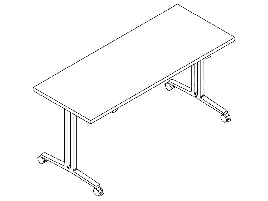 A line drawing - Everywhere Table–Flip Top