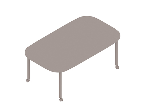 A generic rendering - Everywhere Table–Oval–Post Leg