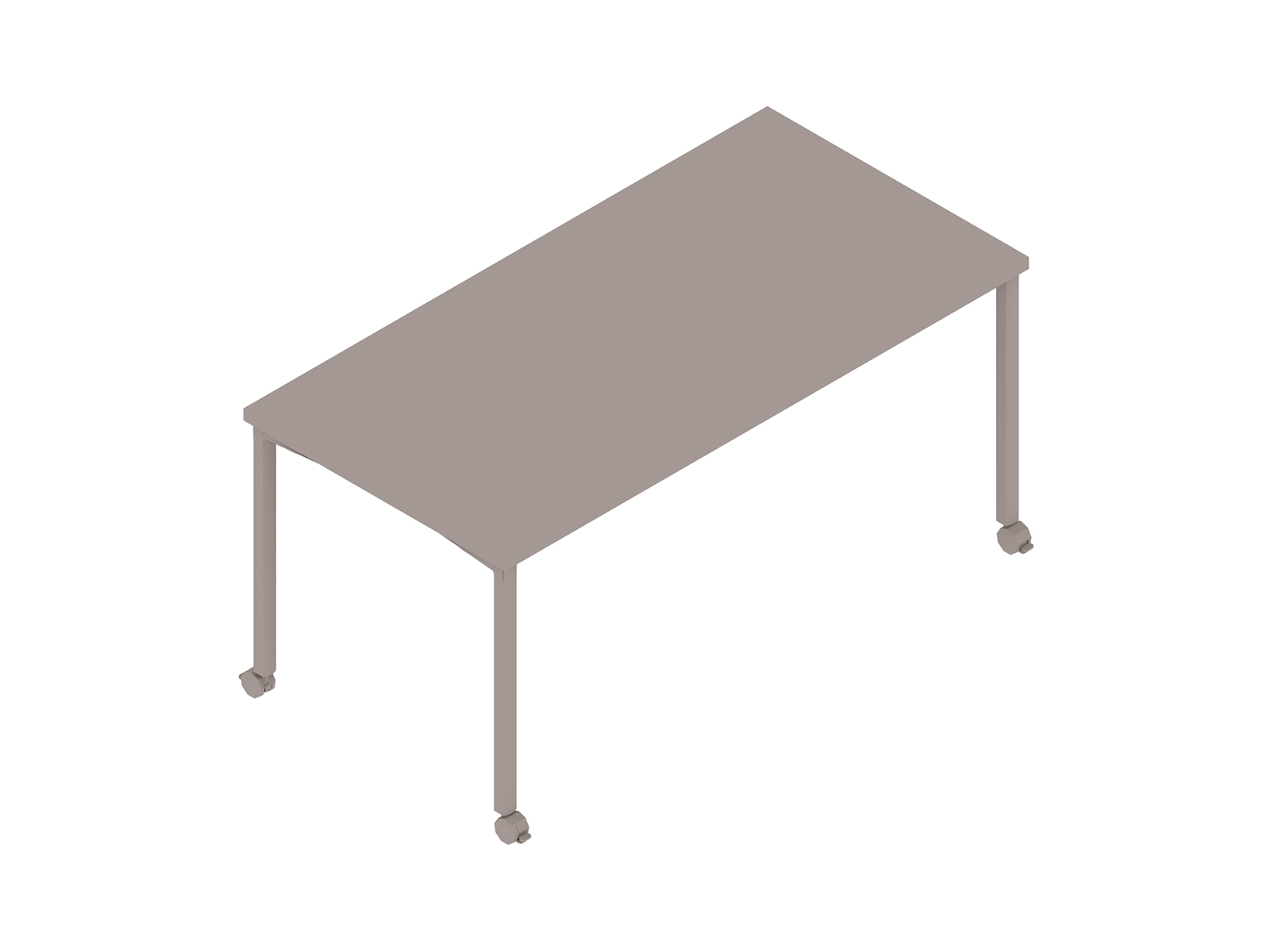 A generic rendering - Everywhere Table–Rectangular–Post Leg