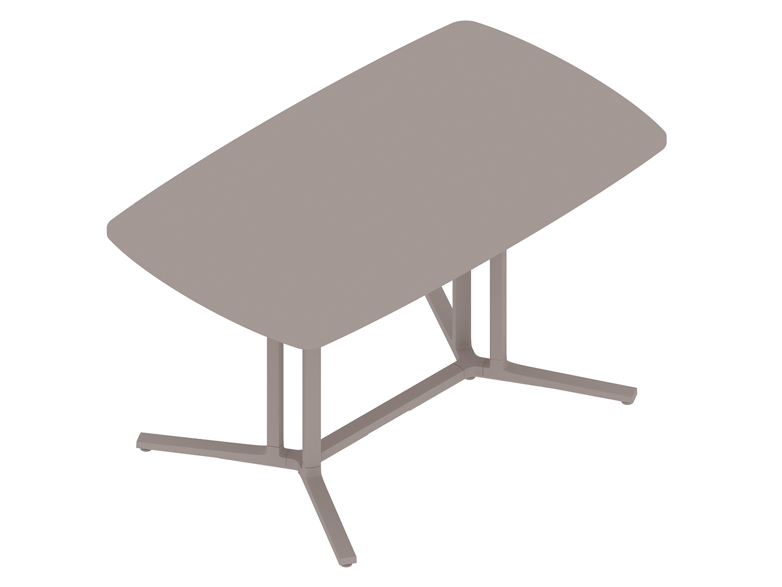 A generic rendering - Everywhere Table–Soft Rectangular–Double 3-Column Base Spanner