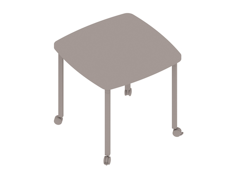 A generic rendering - Everywhere Table–Soft Square–Post Leg