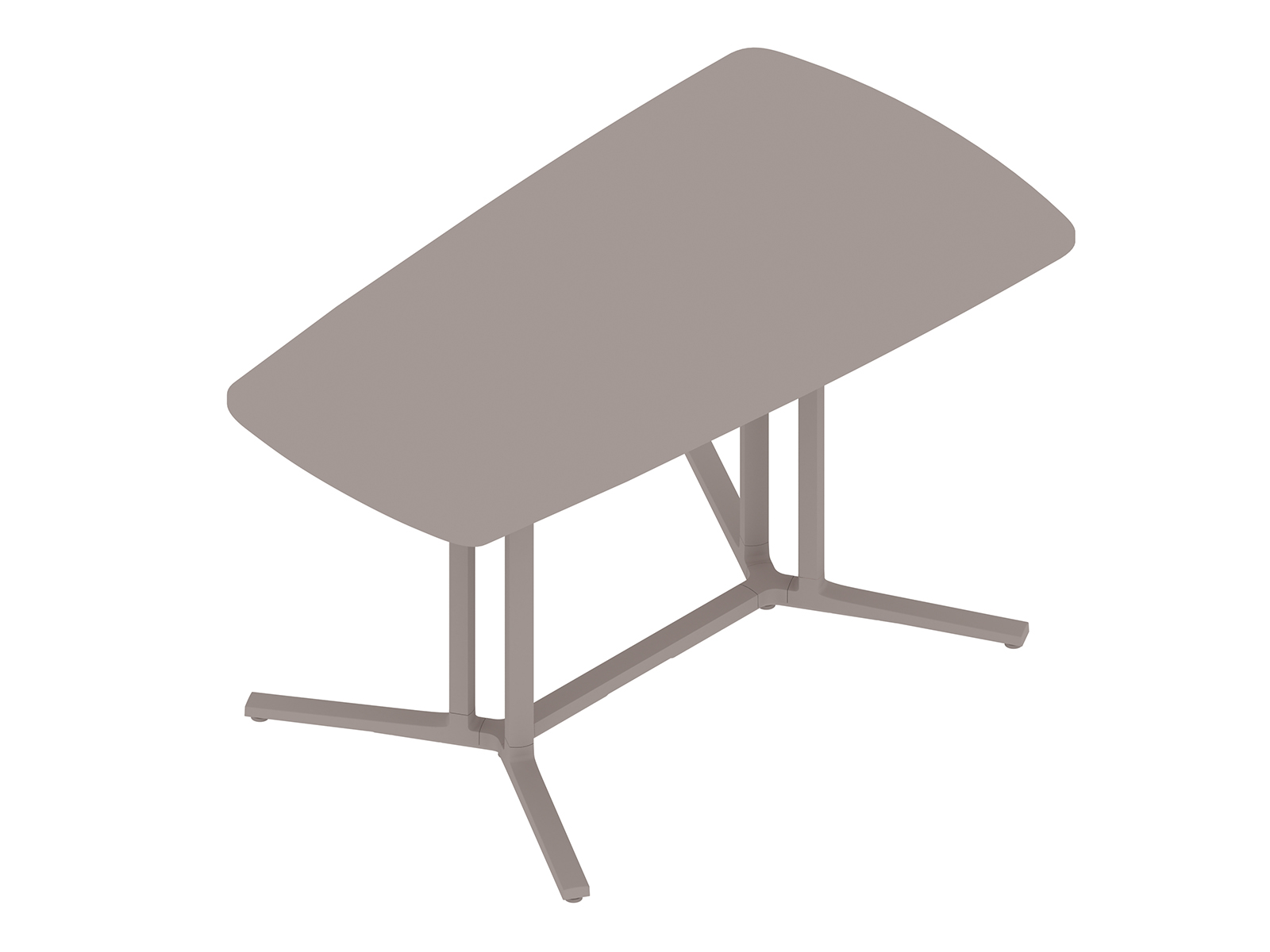A generic rendering - Everywhere Table–Video Oval–Double 3-Column Base Spanner