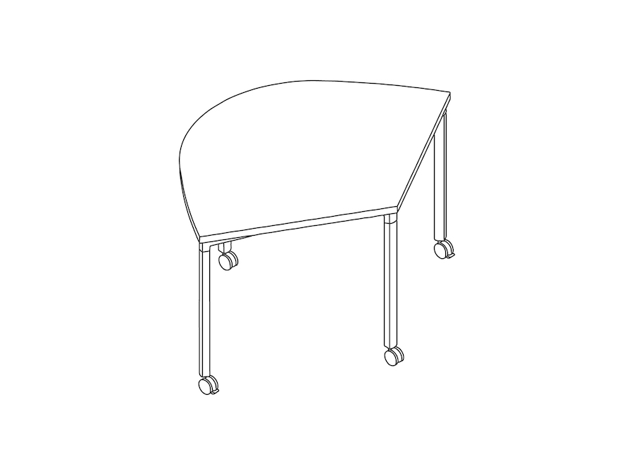 A line drawing - Everywhere Table–Wedge