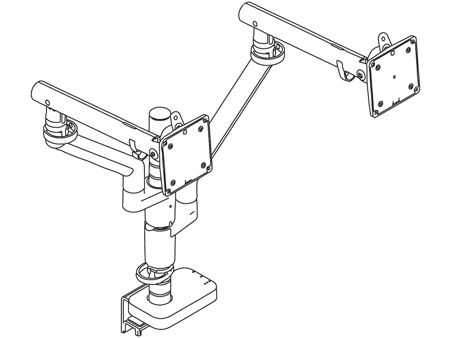 A line drawing - Flo Monitor Arm – Modular