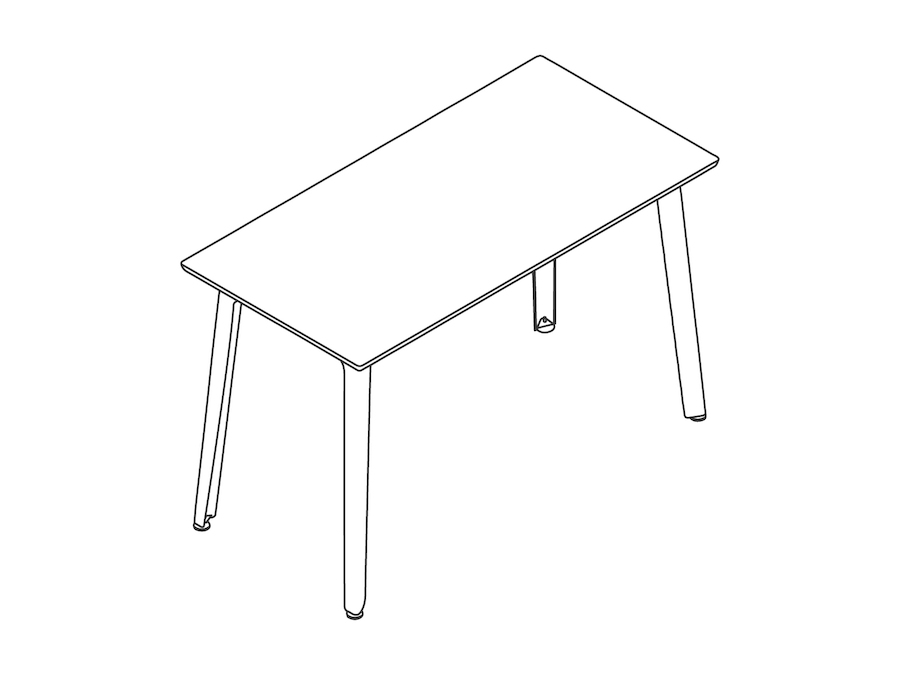A line drawing - Fold Bar Height Table