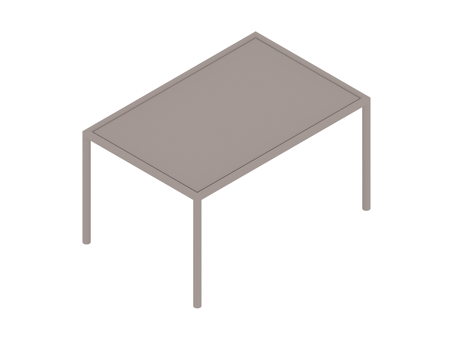 A generic rendering - Full Round Table – Rectangular