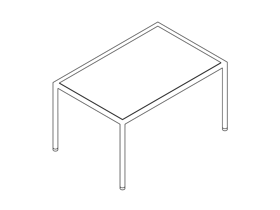 A line drawing - Full Round Table – Rectangular