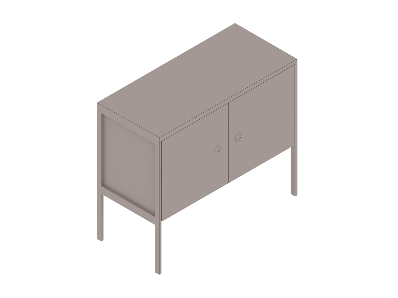 A generic rendering - H Frame Credenza–1 Unit Wide