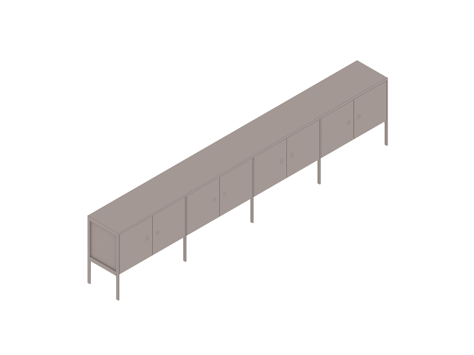 A generic rendering - H Frame Credenza–4 Units Wide