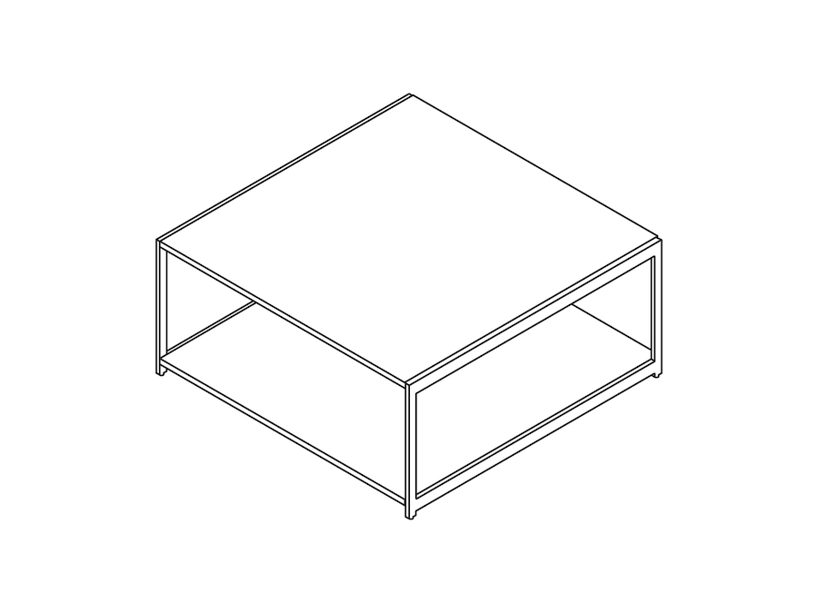 Dessin au trait : Table basse H Frame