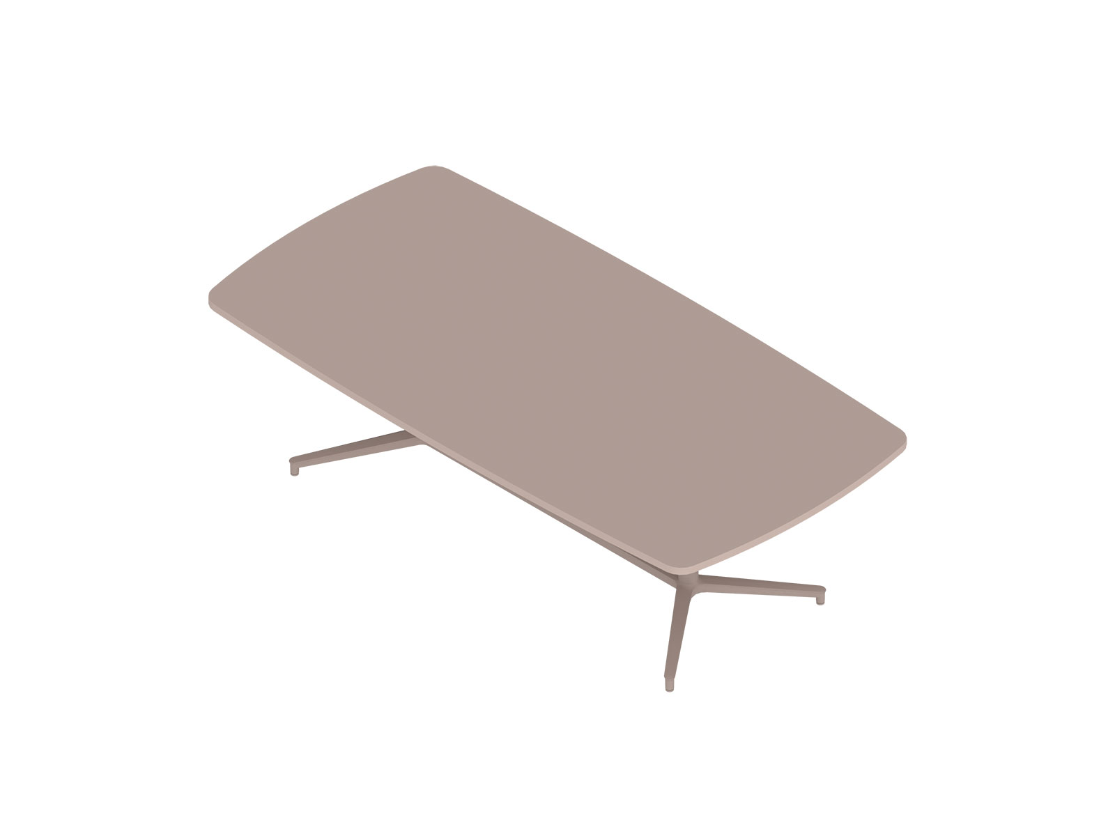 A generic rendering - Headway Conference Table–Seated Height–Boat–Y Base
