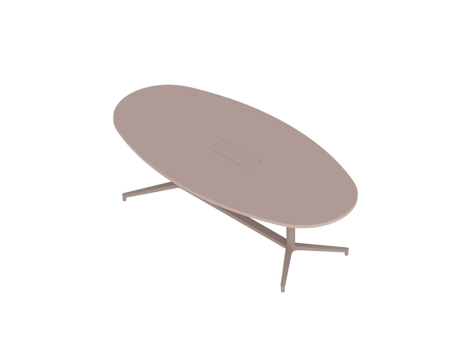 A generic rendering - Headway Conference Table–Seated Height–Oval–Cabinet Base