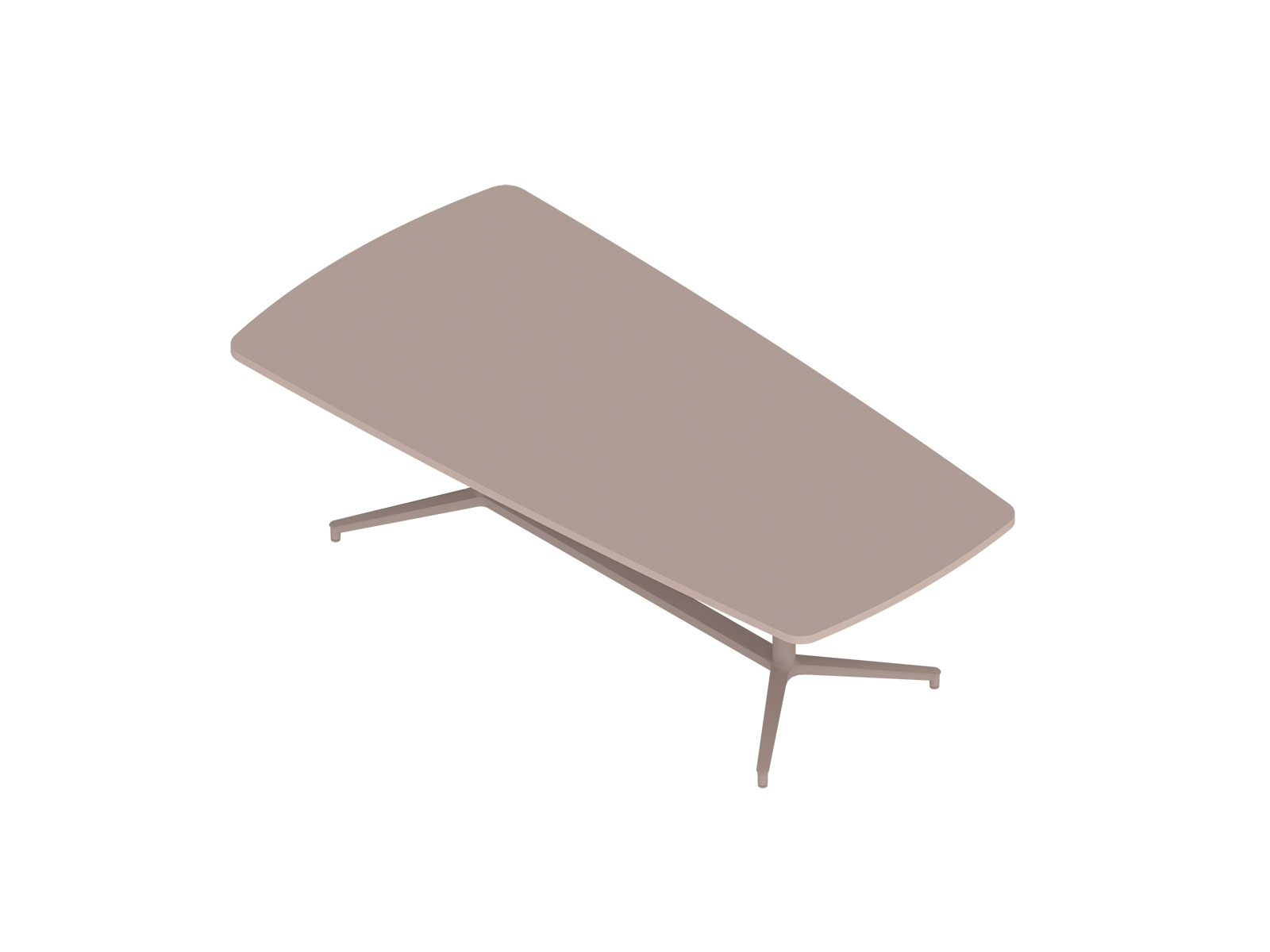 A generic rendering - Headway Conference Table–Seated Height–Tapered–Y Base