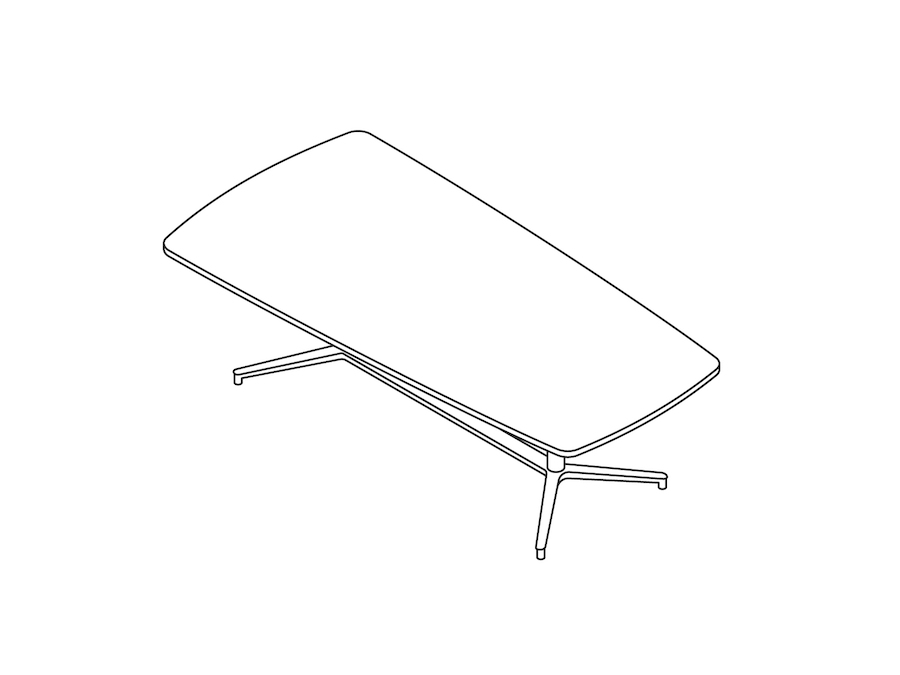A line drawing - Headway Conference Table–Seated Height–Tapered–Y Base