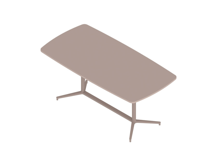 A generic rendering - Headway Conference Table–Standing Height–Boat–Y Base