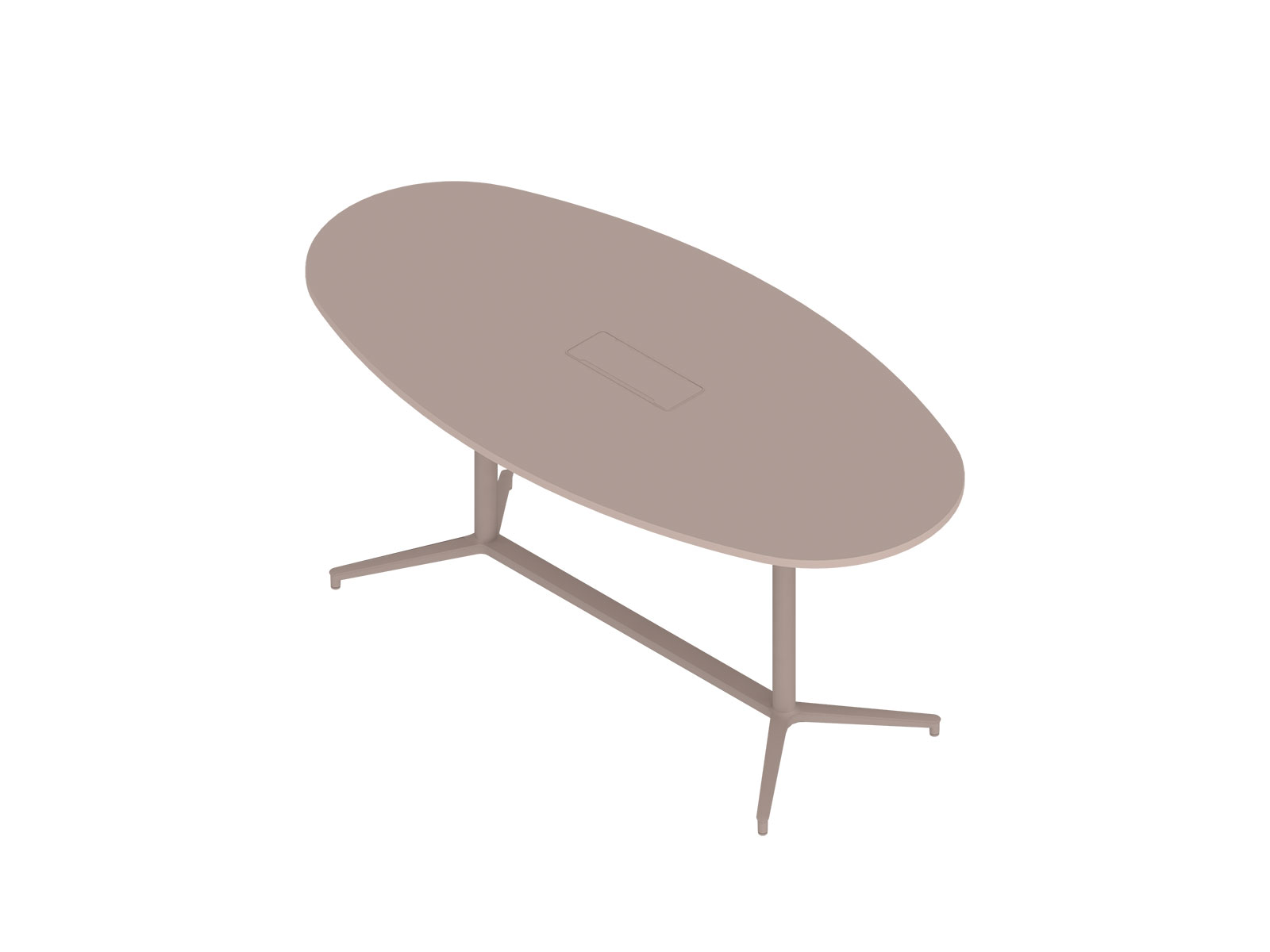 A generic rendering - Headway Conference Table–Standing Height–Oval–Y Base