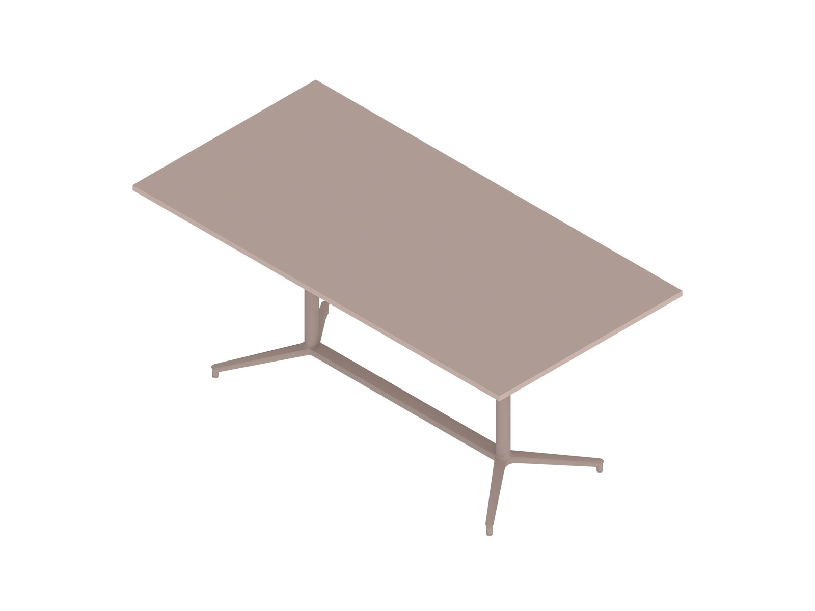 A generic rendering - Headway Conference Table–Seated Height–Rectangular–Y Base