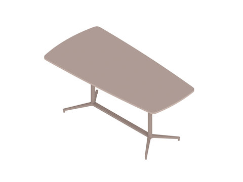 A generic rendering - Headway Conference Table–Standing Height–Tapered–Y Base