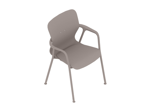 A generic rendering - Keyn Chair–4-Leg Base–With Arms